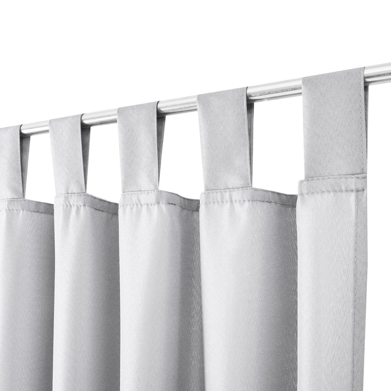Beautissu® tenda con passanti bianco 140x175 cm   protezione dagli ...