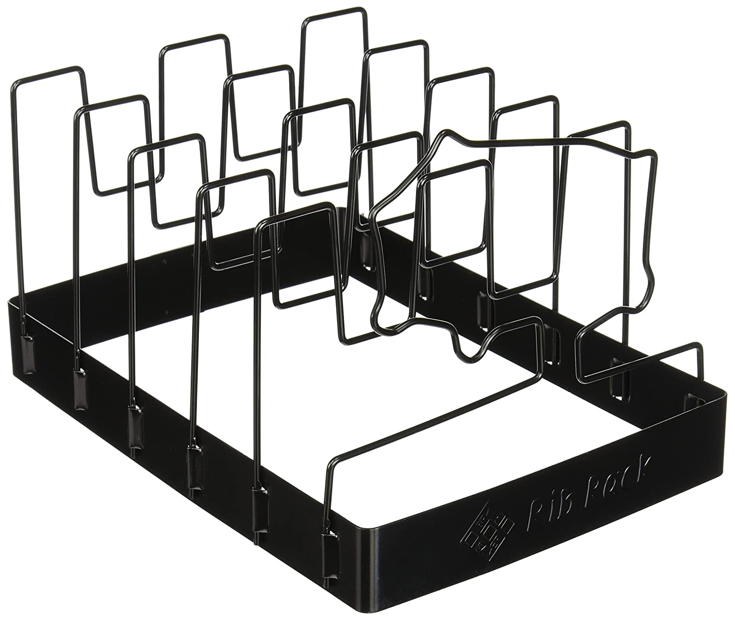 Charcoal Companion CC3011 SpaceSaver Non-Stick Rib Rack