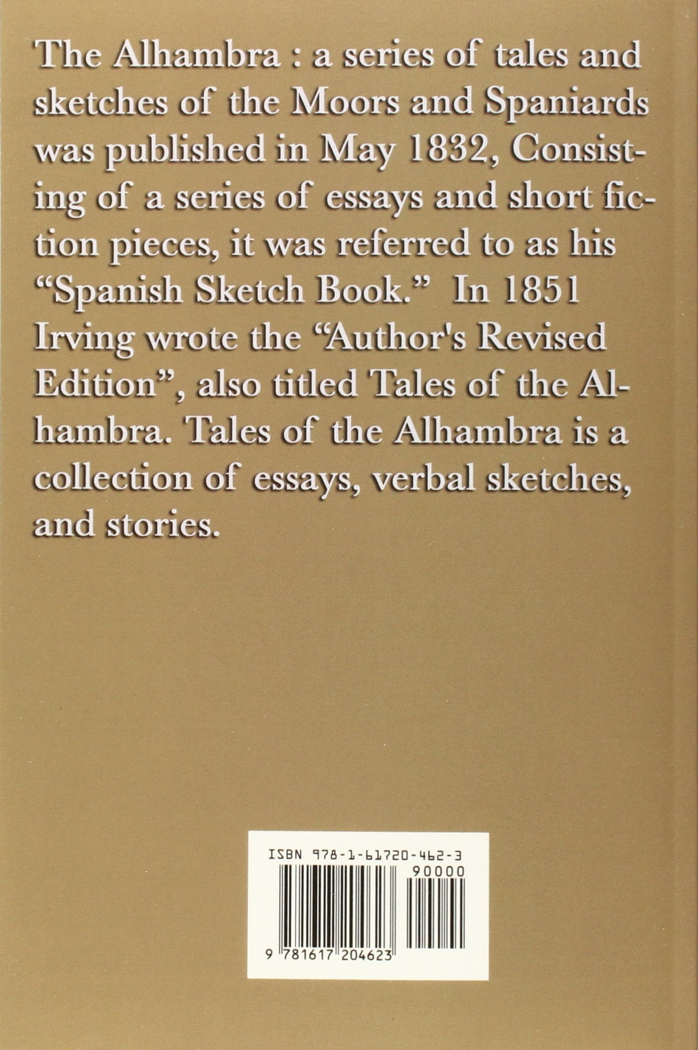 Amazon.com: Tales of the Alhambra (9781617204623): Washington irving: Books