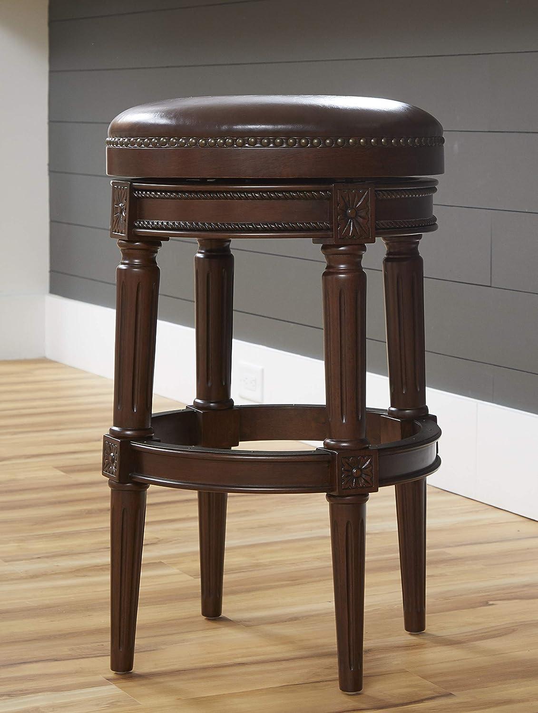 Amazon Com Newridge Home Goods Backless Chapman Bar Height Stool Distressed Walnut Brown Nr107181 Pbs Mh Furniture Decor
