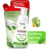 Betadine Hand Wash Natural Defense, Tea Tree Oil, Refill Bag, 200 ml