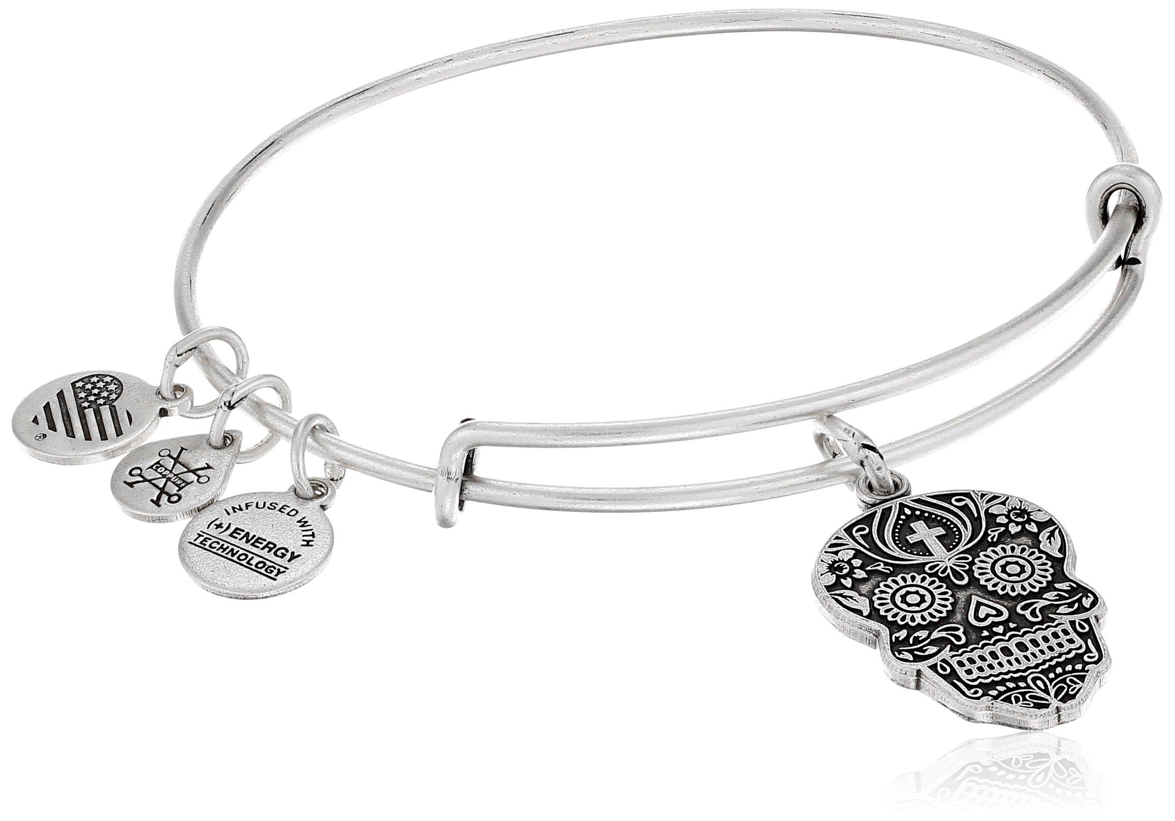 Alex and Ani Calavera Rafaelian Silver Bangle Bracelet