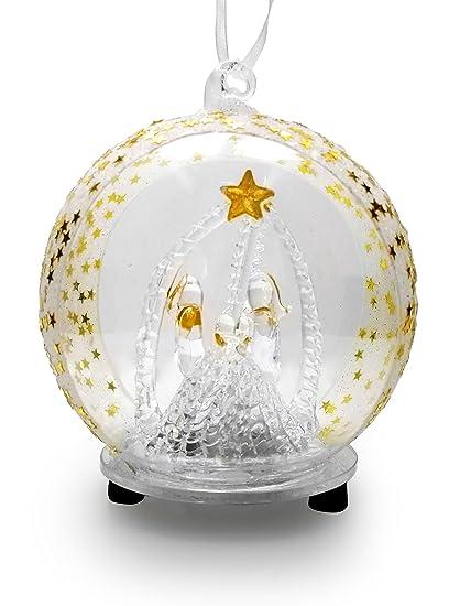 amazon com holy family nativity led glass globe christmas tree