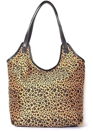 b00590706252 Naife women's large leopard tote shoulder handbags