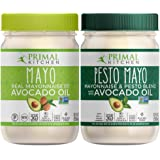 Primal Kitchen Avocado Oil Mayo Variety Pack - Includes 1 Original and 1 Pesto, Gluten and Dairy Free, Whole30 and Paleo Appr
