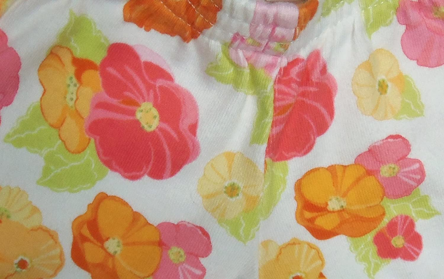 Gymboree Infant Baby Girl Floral Pants White Pink Orange Flowers Play Time!