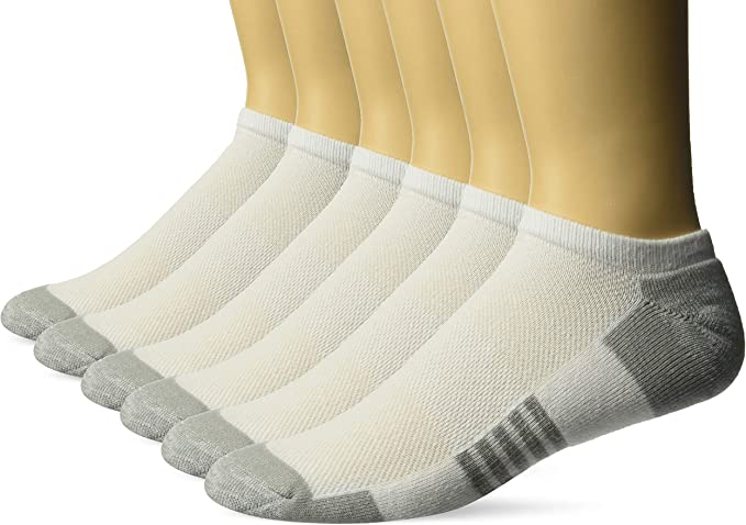 Essentials Mens 6-Pack Performance Cotton Cushioned Athletic Crew Socks
