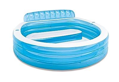 Intex 57190NP - Piscina hinchable con sillón 224x216x76 cm, 590l