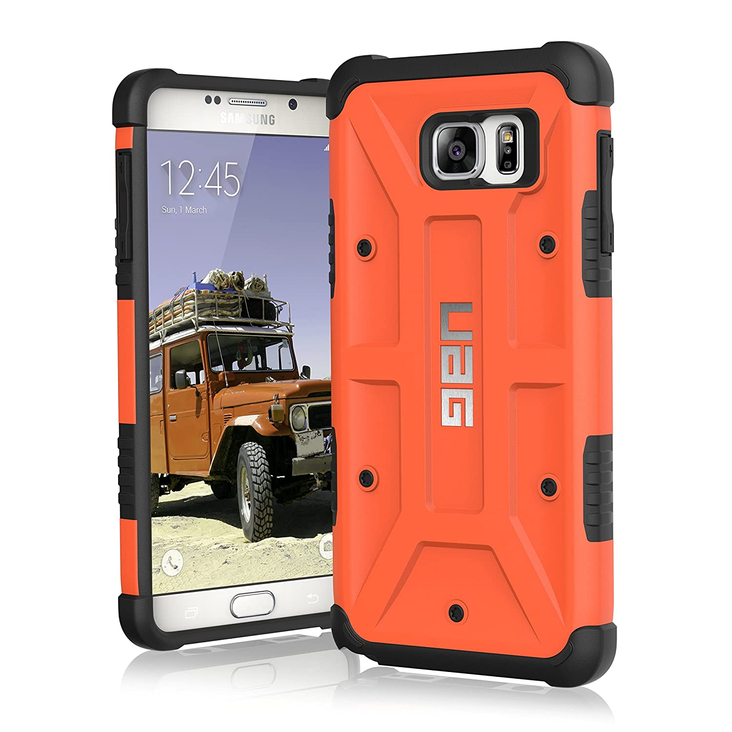 Amazon.com: UAG Samsung Galaxy Note 5 Feather-Light Composite [RUST] Military Drop Tested Phone Case: Cell Phones \u0026 Accessories [RUST
