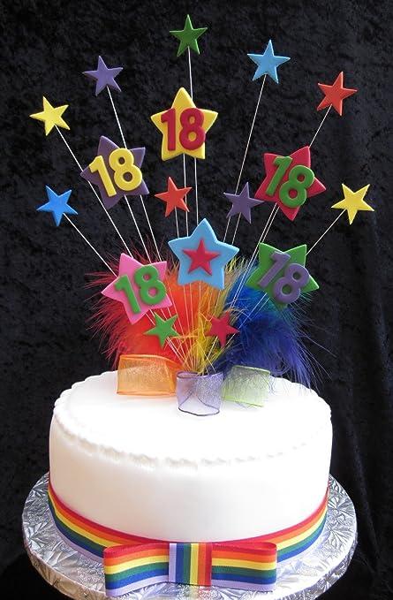 Karens Cake Toppers XVIII Star decoración para Tarta para ...