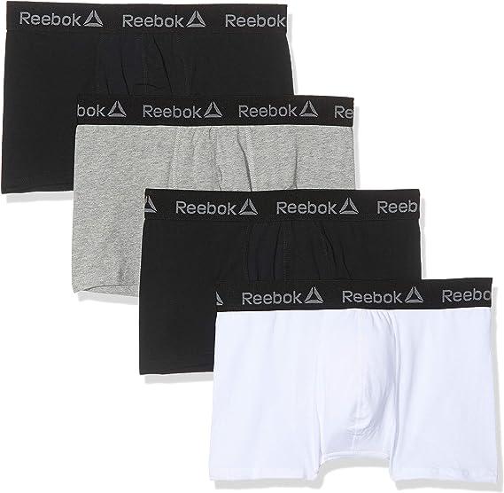 Reebok Homme 4 Paquet TRUNKS Sous-vêtements taille élastique