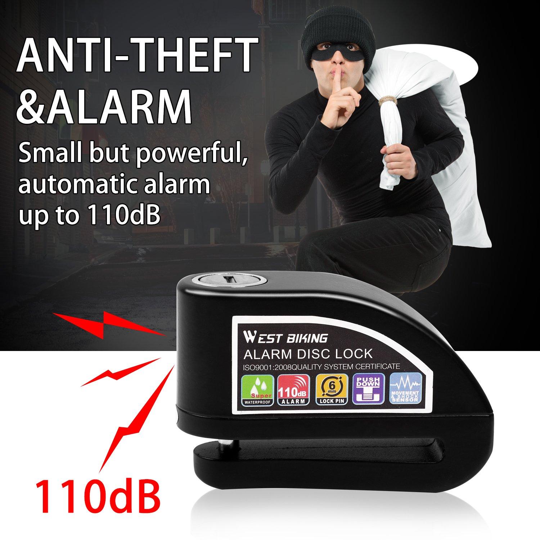 Amazon.com: icocopro alarma antirrobo de bloqueo de disco ...