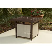 COSCO Outdoor Living Stone Lake Patio Propane Fire Pit Table, Brown Mixed  Media Frame