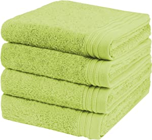 """Weidemans Premium Towel Set of 4 Hand Towels 18"""" x 30"""" Color: Apple Green 