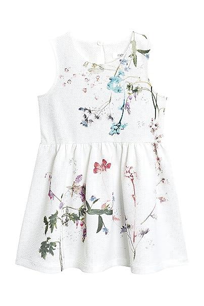 next Niñas Vestido Floral De Punto Roma (3 Meses - 6 Años) Crudo 5