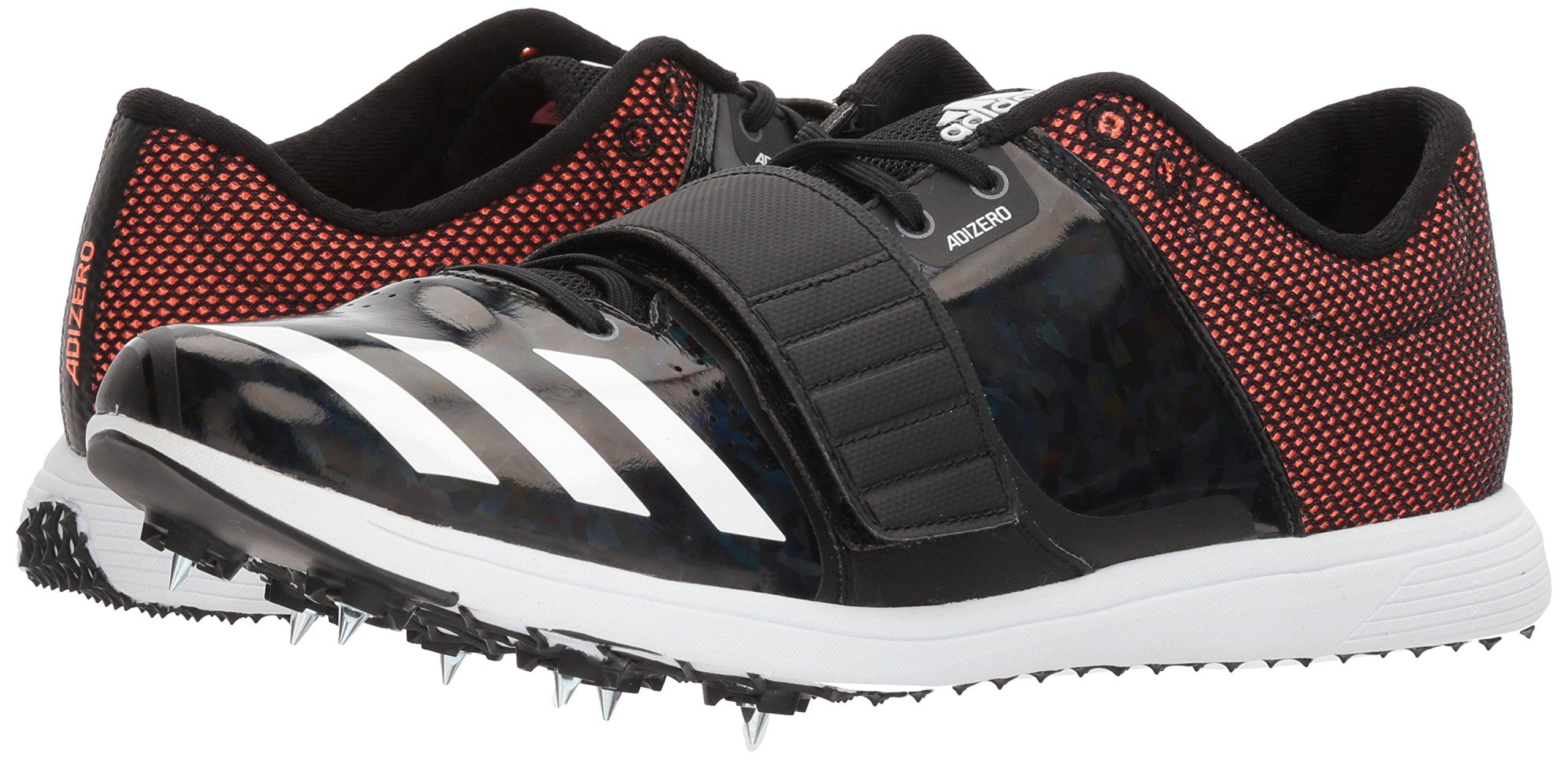 adidas Adizero tj/pv Running Shoe core Black, FTWR White, Orange 13.5 M US by adidas (Image #6)