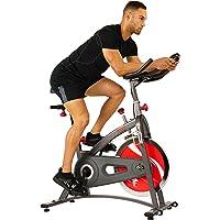 Sunny Health & Fitness Bicicleta de Ejercicios de Ciclismo de Interior de Correa SF-B1423 con Monitor de LCD