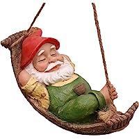 TERESA'S COLLECTIONS Fairy Garden Gnome Statue, Vattentät Hartshängande Trädgårdsprydnad för Dekoration av…