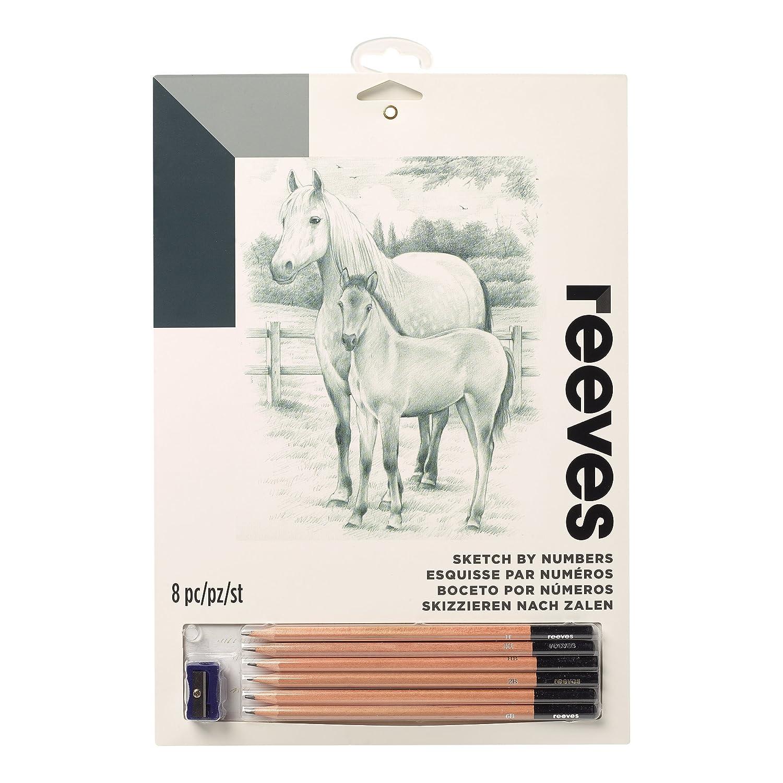 (Medium, Horse) Horse (Medium, - Reeves Sketch by Numbers-Medium, x Horse B071VVLCCT 9