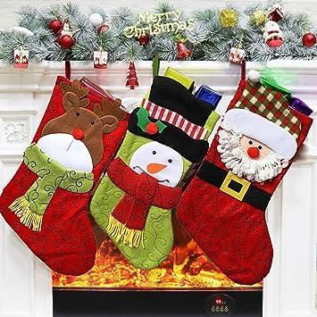Christmas Stockings Cartoon.Amazon Com Karidun 2019 New Christmas Stocking Bag Cartoon