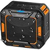 Portable Bluetooth Speaker Shower Outdoor Boomph. Water Resistant & Shockproof : Rechargeable, Enhanced 10 Hr Battery, Pairs All Bluetooth Devices (Orange)