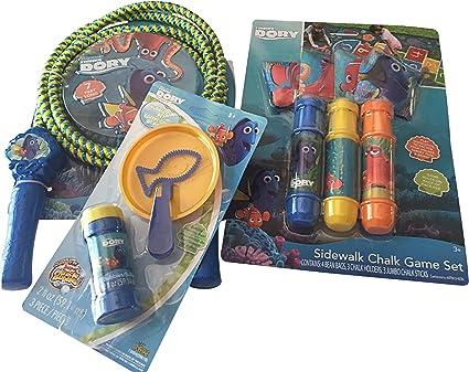 Finding Dory Jumbo Sidewalk Chalk Set with Plastic Finding Dory Chalk Holder for Kids Summer Activities