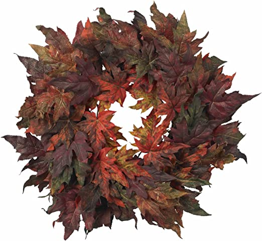 Penny leaf fall floral pick Mustard Red Green