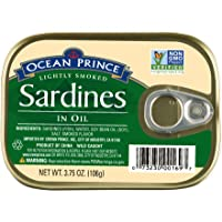 Ocean Prince Sardines in Oil, 3.75 Ounce Cans (Pack of 12)
