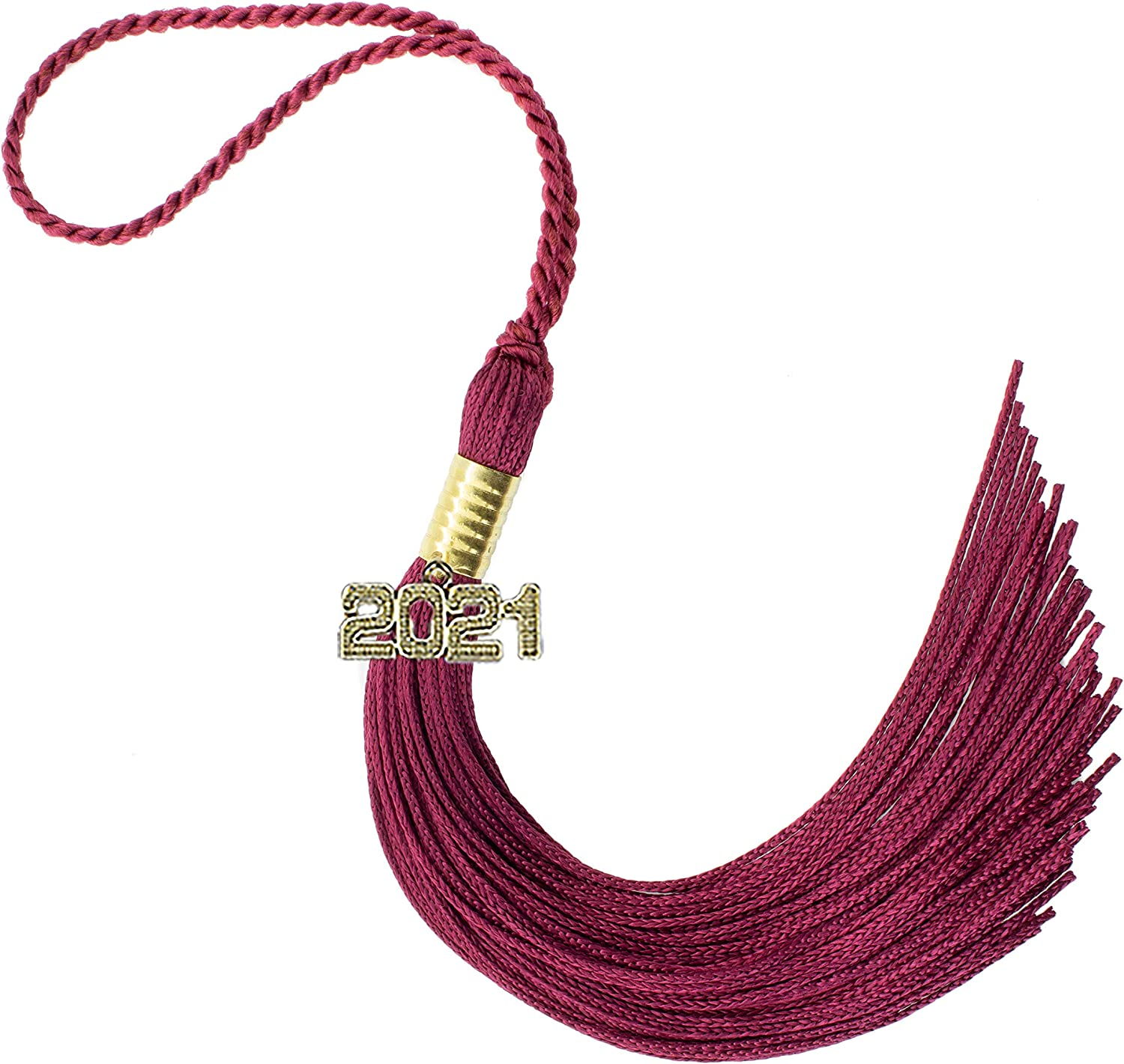 Amazon.com: 2021 Maroon Graduation Tassel - Every School Color Available  -Made in USA: Home & Kitchen