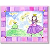 The Kids Room by Stupell Princess and Frog Prince Rectangle Wall Plaque