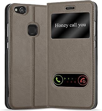 Cadorabo Funda Libro para Huawei P10 Lite en MARRÓN Piedra: Amazon.es: Electrónica