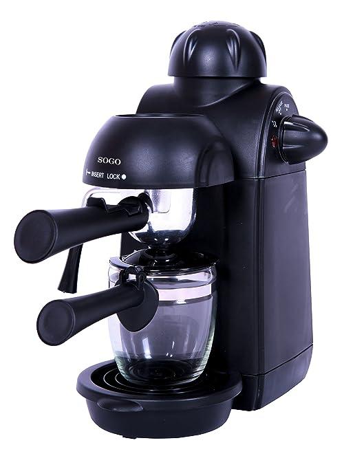 Sogo Semi Espresso Cafetera, 870 W, 0.24 litros, Plástico ...