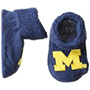 Two Feet Ahead NCAA Michigan Wolverines Infant Gift Box Booties, One Size, Navy