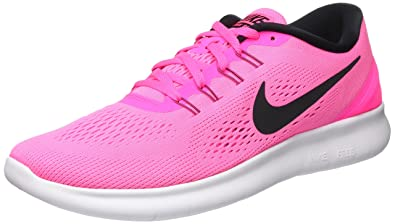 58225cd8cbf Image Unavailable. Image not available for. Color  Nike Women s Free RN  Running Shoes Pink Blast Fire Pink White Black 11