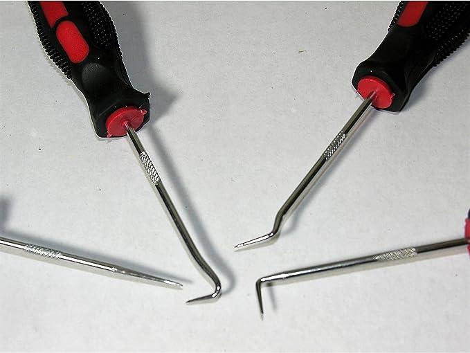 herramienta de desmontaje del sello de junta t/órica juego universal de gancho rascador de aguja y gancho Juego de gancho de selecci/ón de destornillador de 9 piezas