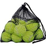 12 Balles pour Chien Chiot OMorc Lot de 12 Balles de Tennis avec Sac de Transport Mesh, Robuste et Durable réutilisable avec fermeture à corde Idéal pour Entrainement, Leçon, Machines à Lancer et Jouer avec Animaux de Compagnie