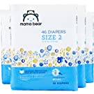 Amazon Brand - Mama Bear Diapers Size 2, 184 Count, Bears Print (4 packs of 46)