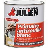 Peinture JULIEN Feri'Prim - primaire antirouille Blanc Satin 0,5L