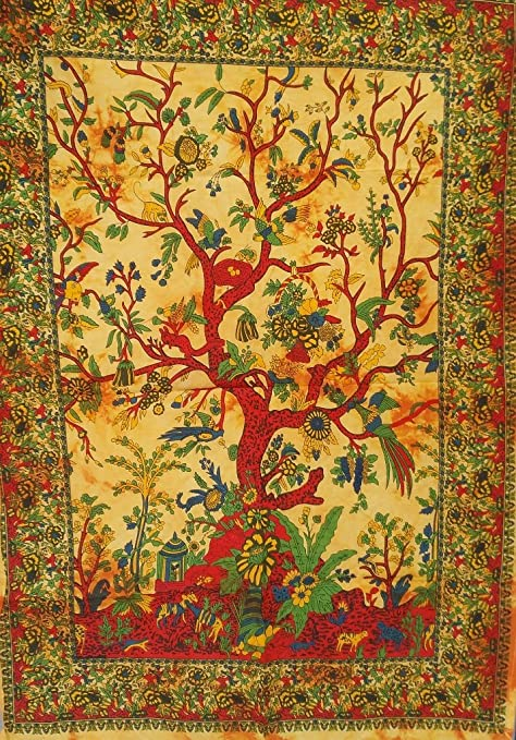 WORLD WIDE KART Tree of life Poster Cotton Tapestries Tree Fabric ...