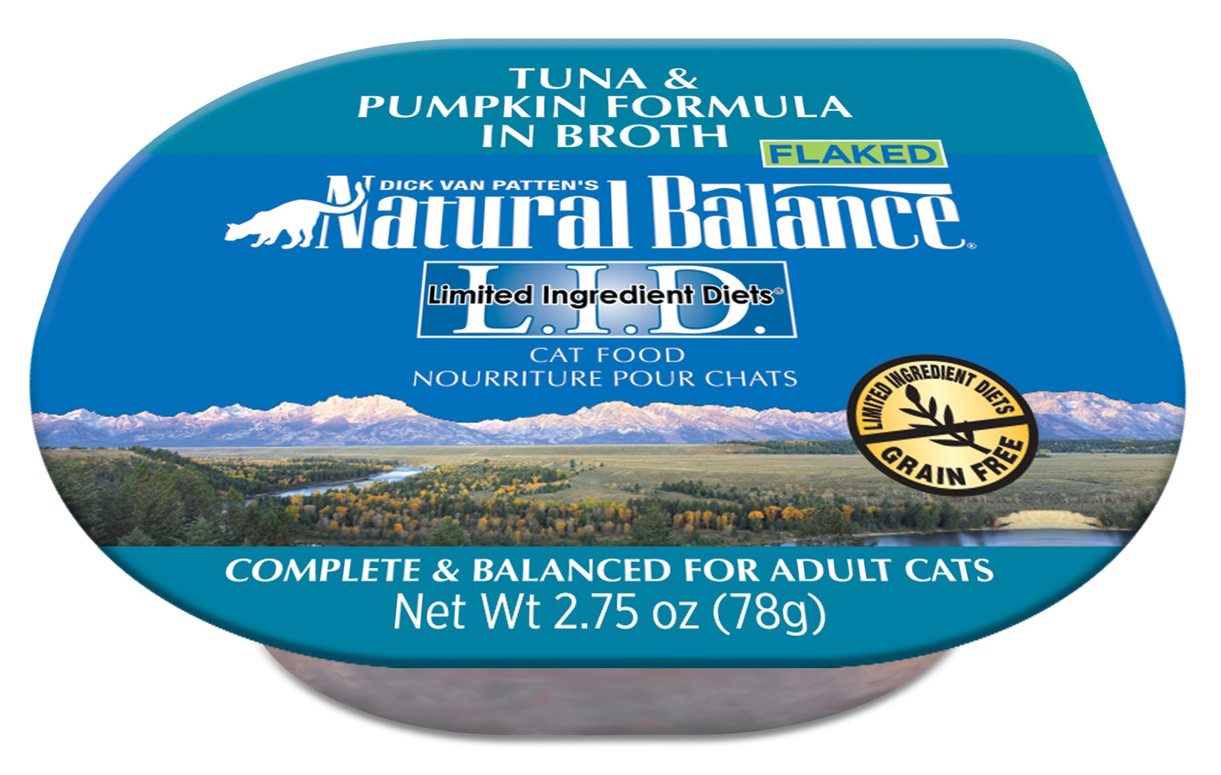 Natural Balance Limited Ingredient Diets Wet Cat Food, Tuna & Pumpkin Formula In Broth, 2.75-Ounce Cups (Pack Of 24) by Natural Balance
