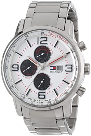 Tommy Hilfiger Mens 1710338 Casual Sport Multi-Eye and White Dial Watch