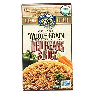 Lundberg Family Farms - Organic Whole Grain Rice & Red Beans, Creole-Inspired Side Dish, Pantry Staple, 100% Whole Grain, Non-GMO, Gluten-Free, USDA Certified Organic, Vegan, Kosher (6 oz, 6-Pack)