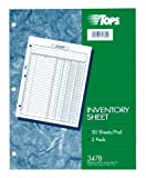 TOPS Inventory Sheet, 8.5 x 11 Inch, Blue