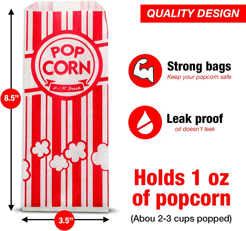 Amazon.com: Bolsas de palomitas de maíz 1 vez – Tamaño ...