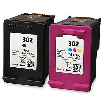 GREENPRINTER ® 302 XL Cartuchos de tinta (1 Negro, 1 tricolor ...