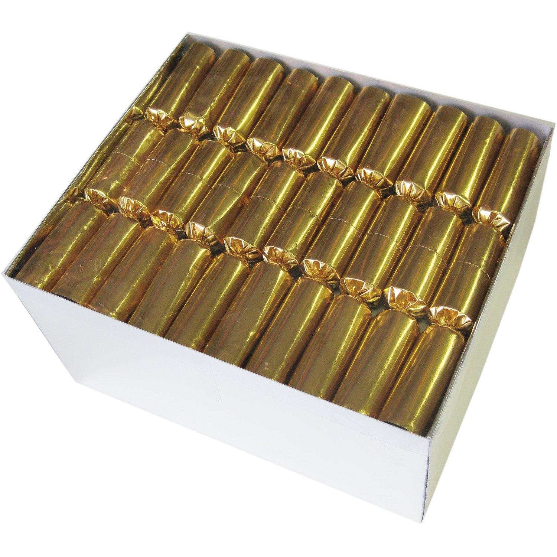 MEGAPACK: 50 Knallbonbons in glänzendem glänzendem glänzendem Gold 22cm - Silvester Karneval & Dekoration c1a339