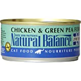 Natural Balance Canned Cat Food, Limited Ingredient Chicken and Green Pea Recipe, 6 Ounce, Pack of 24