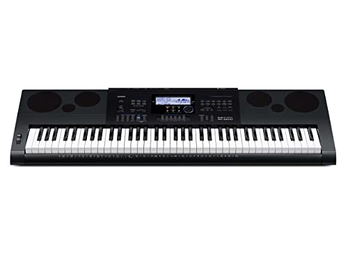 Casio Inc. WK6600 PPK 76-Key Premium Keyboard Pack with Stand, Power Adapter, Dust Cover, and Samson HP30 Closed-Cup Headphones