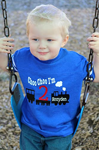 Boys 2nd Birthday Train Shirt
