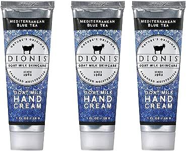 Dionis Goat Milk Skincare Hand Cream - 3 Piece Gift Set - Mediterranean Blue Tea